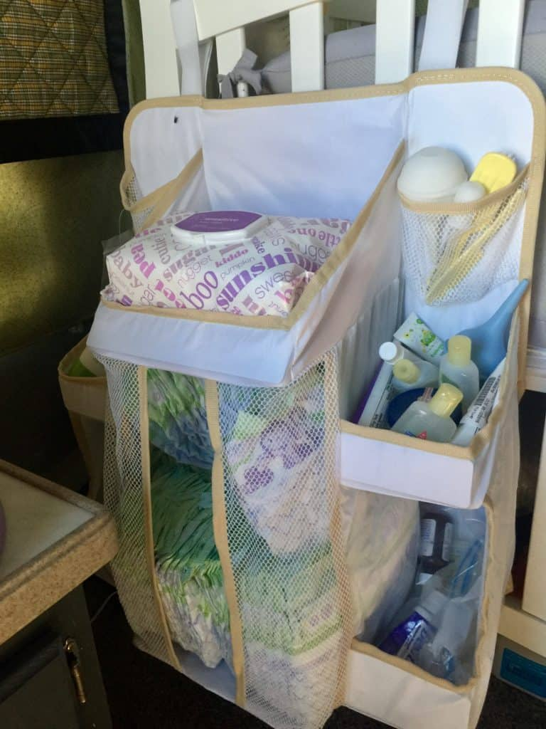 RV Nursery Crib Organizer