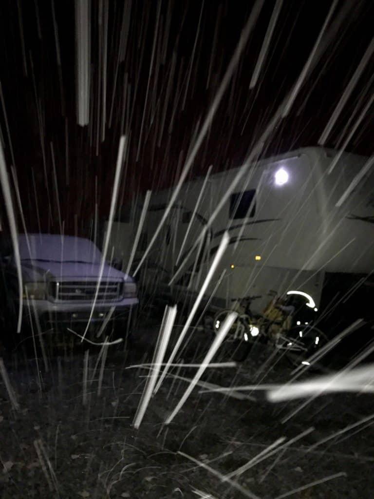 Snowing RV