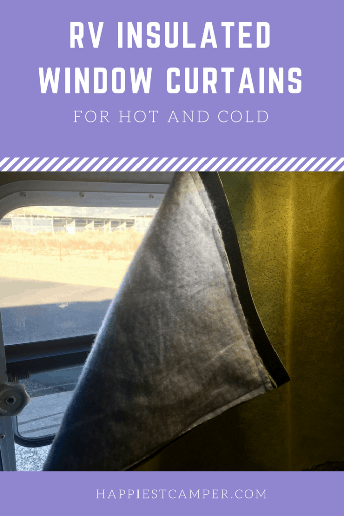 RV Insulated Window Curtains
