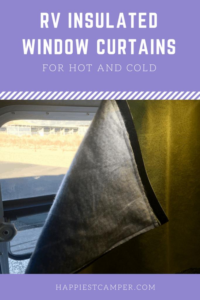 RV Insulated Window Curtains