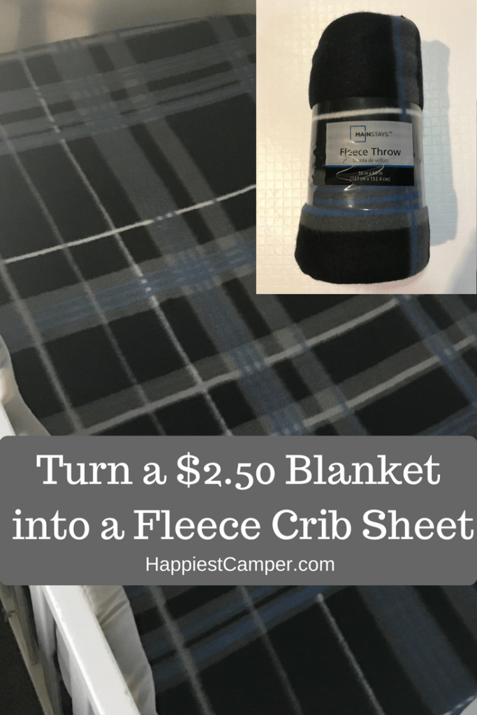 Turn a $2.50 Blanket into a Crib Sheet