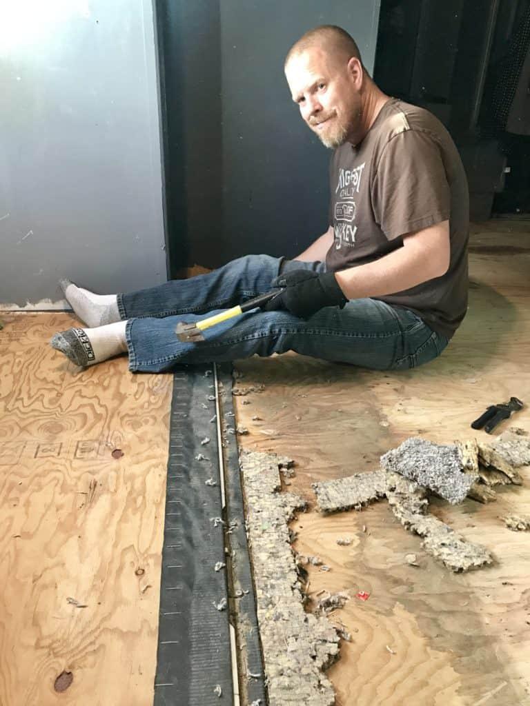 RV Floor Makeover