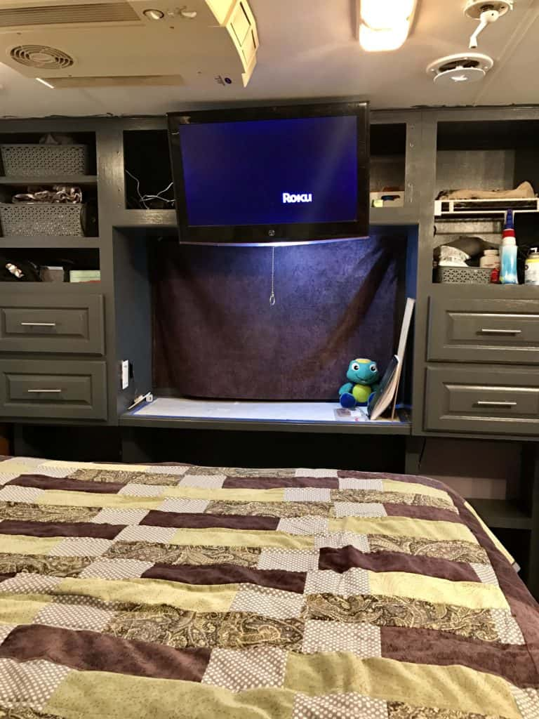 RV Makeover Bedroom