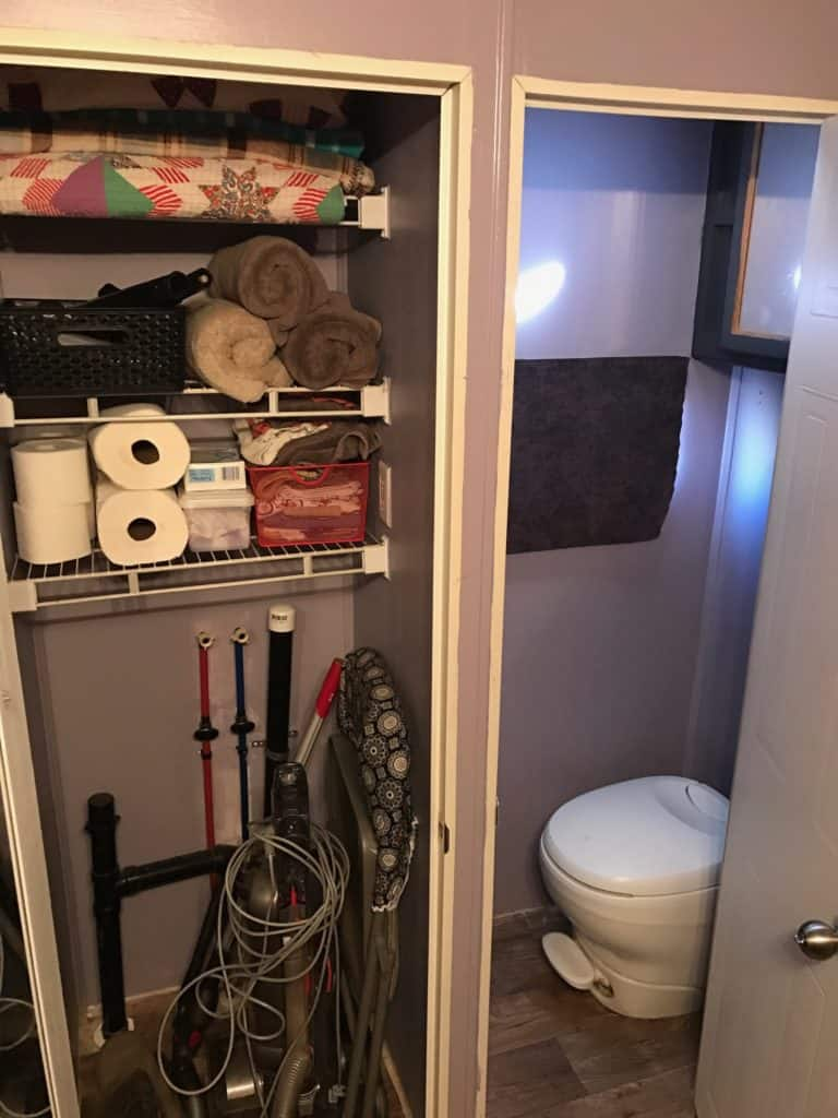RV Makeover Closets
