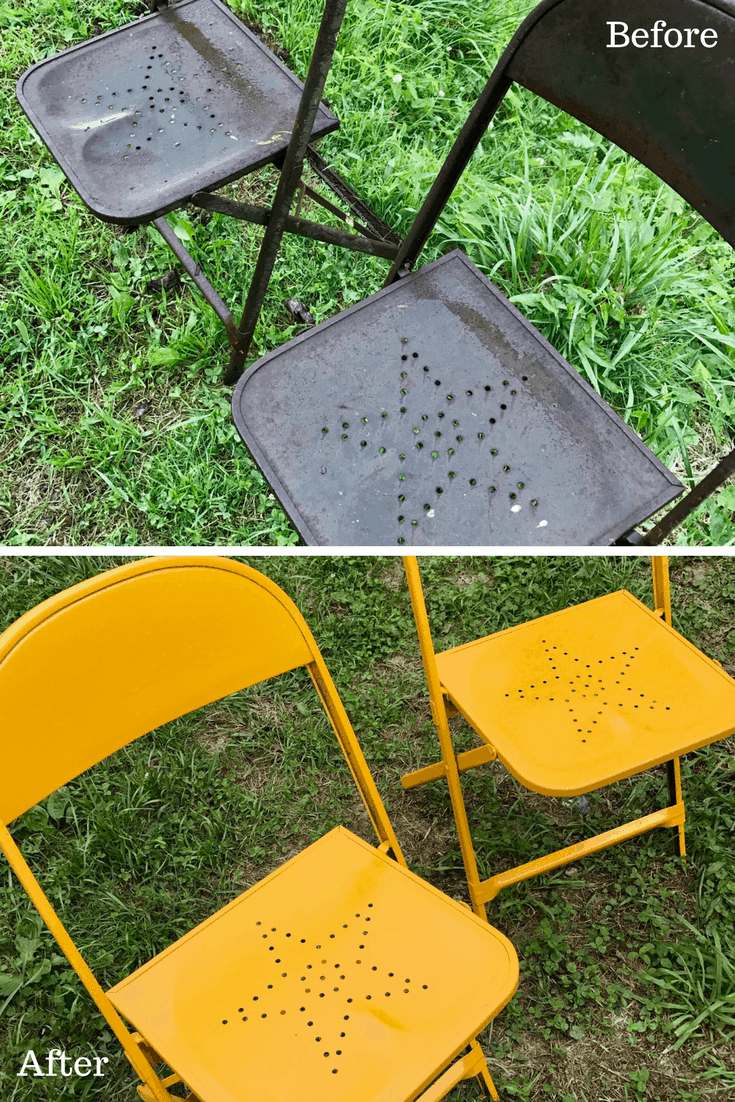 Vintage Metal Star Chair Makeover