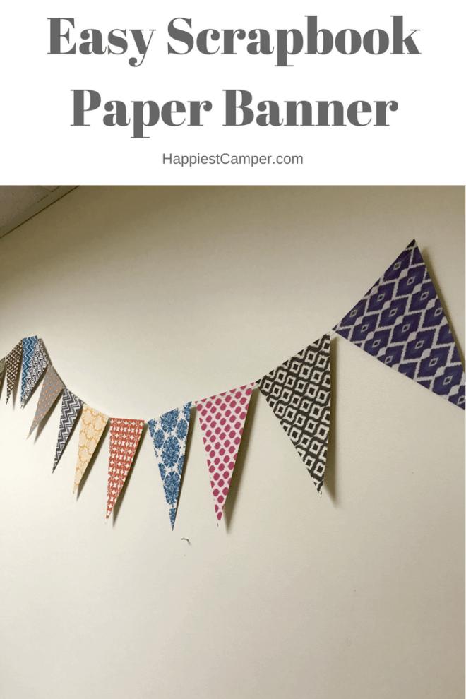 Easy Scrapbook Paper Banner
