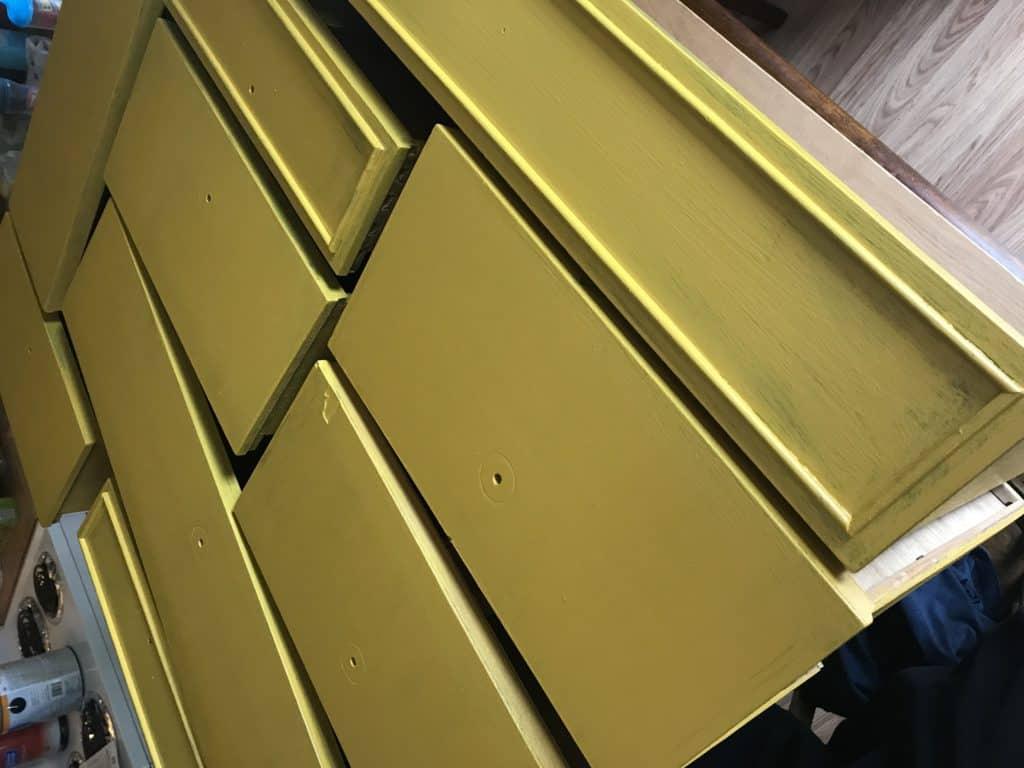 Dresser Makeover Mustard Yellow
