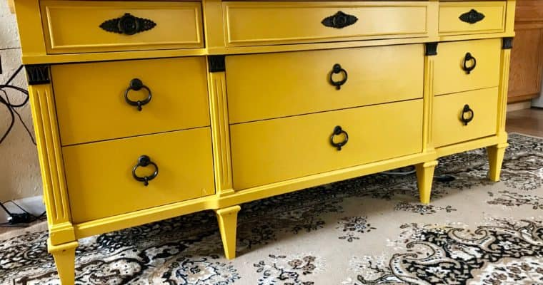 Mustard Yellow Dresser Makeover