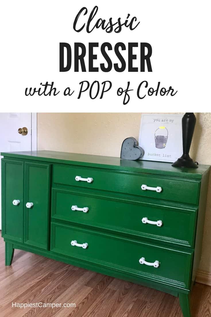 Dresser Makeover Green Furniture DIY