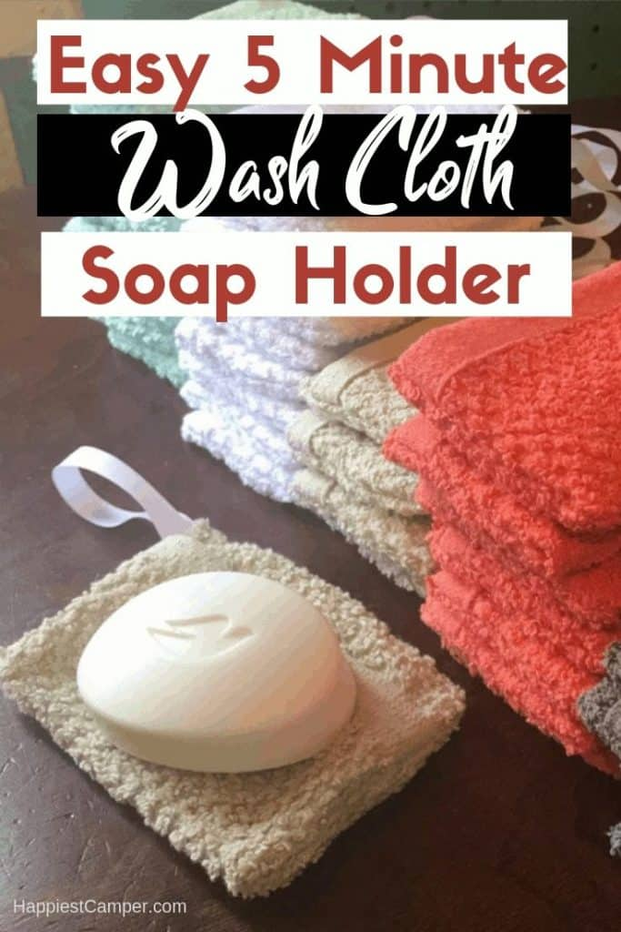 5 Minute Wash Cloth Soap Holder Easy Sewing Project