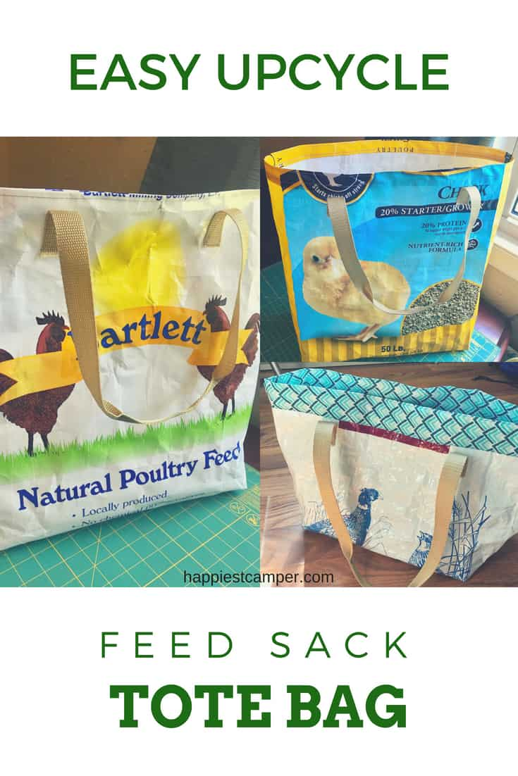 UPCYCLED Unlined Feedsack Tote