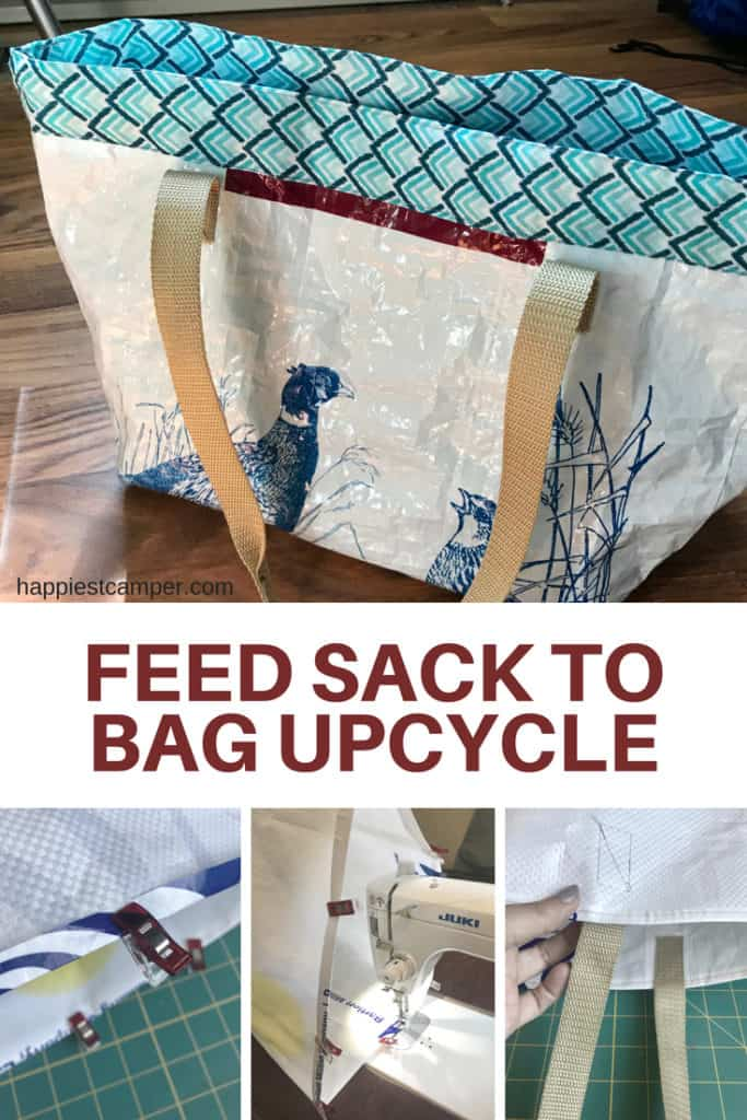 Feed Sack Tote Bag Upcycle