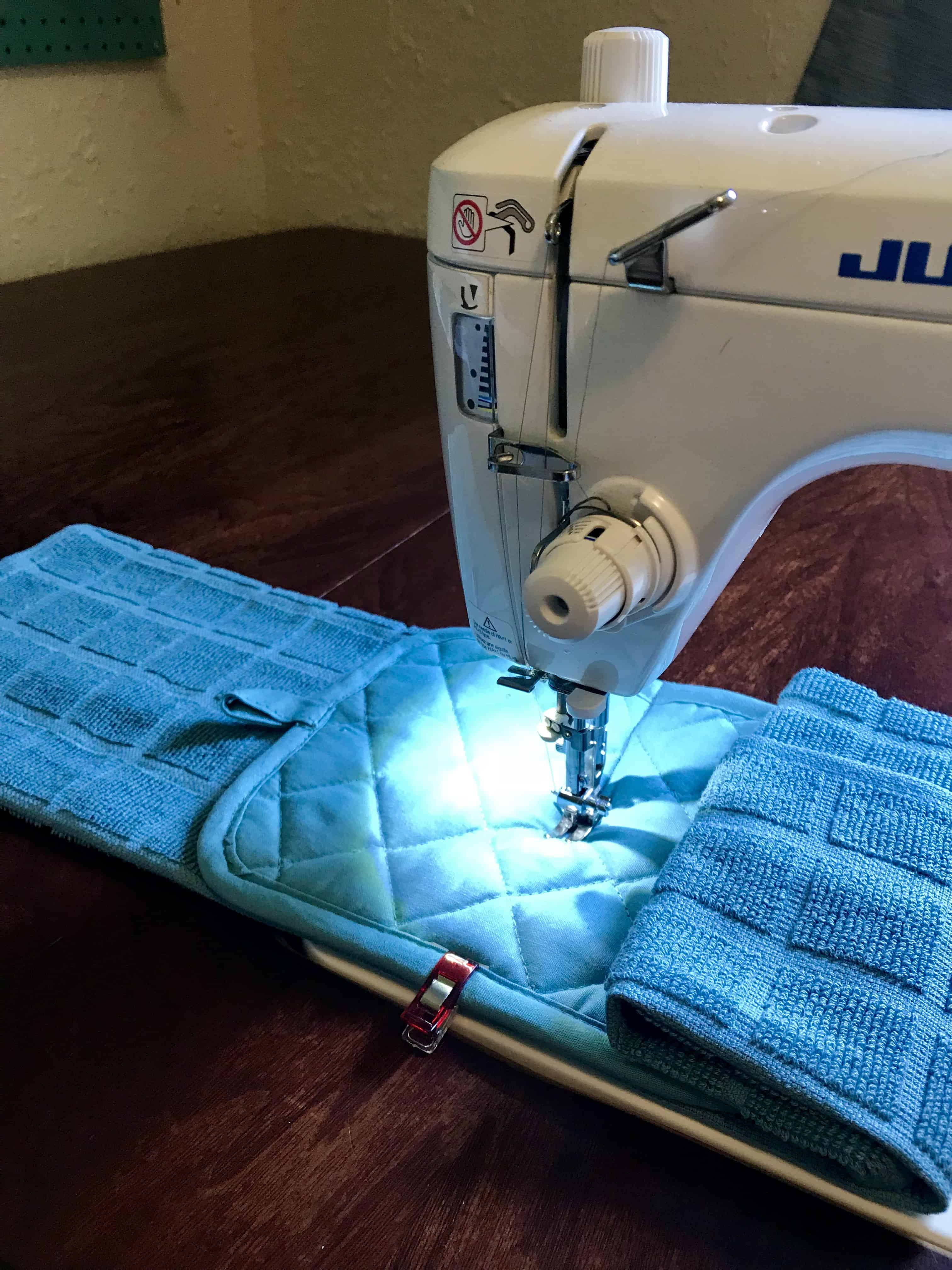 Hanging Kitchen Towel Easy Sewing Project - Happiest Camper