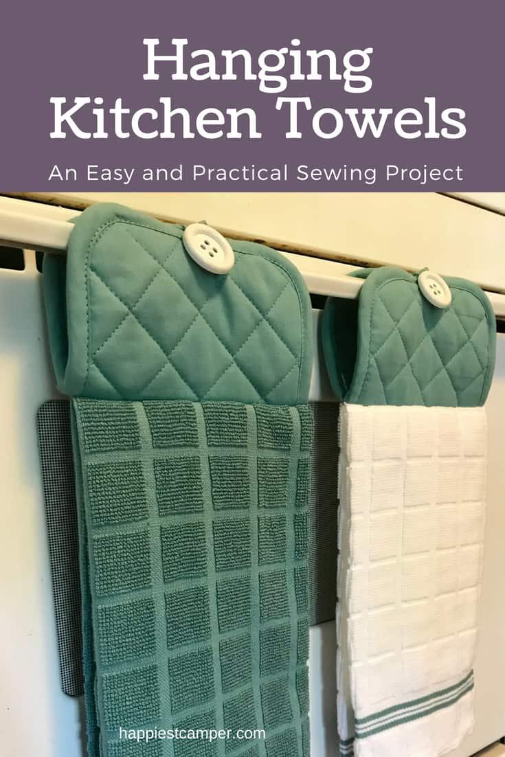 Easy Hanging Kitchen Towel Sewing Project