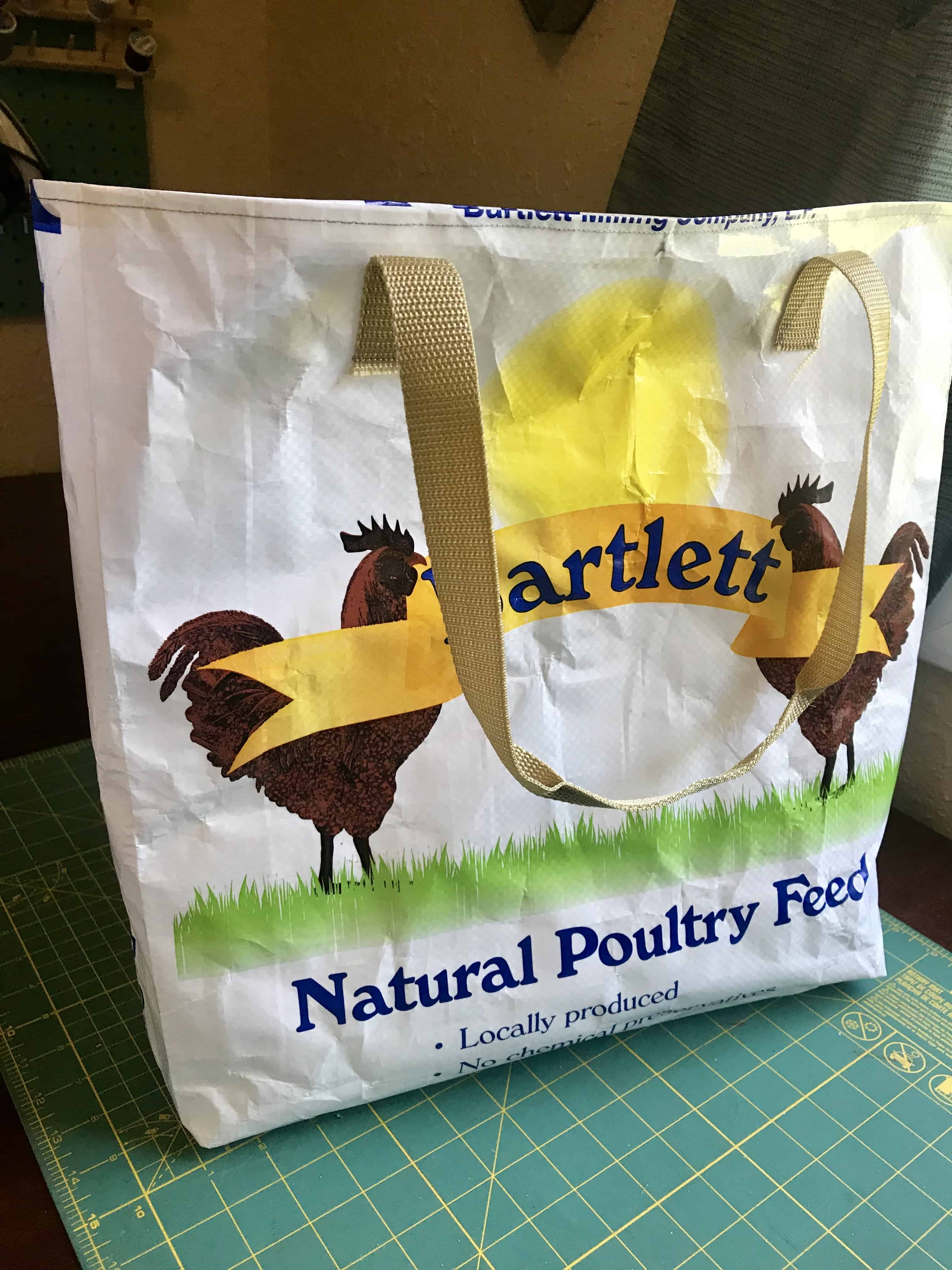 Feed Sack to Tote Bag Easy Upcycle