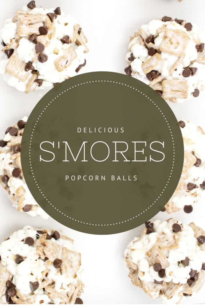 Camping S'mores Popcorn Balls