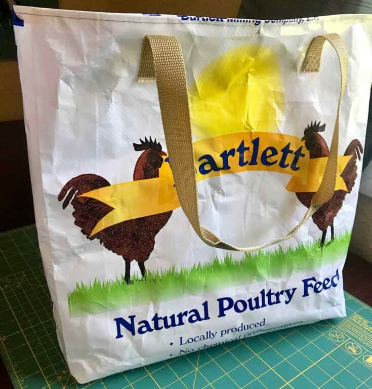 Upcycle Feed Sack Tote Create card