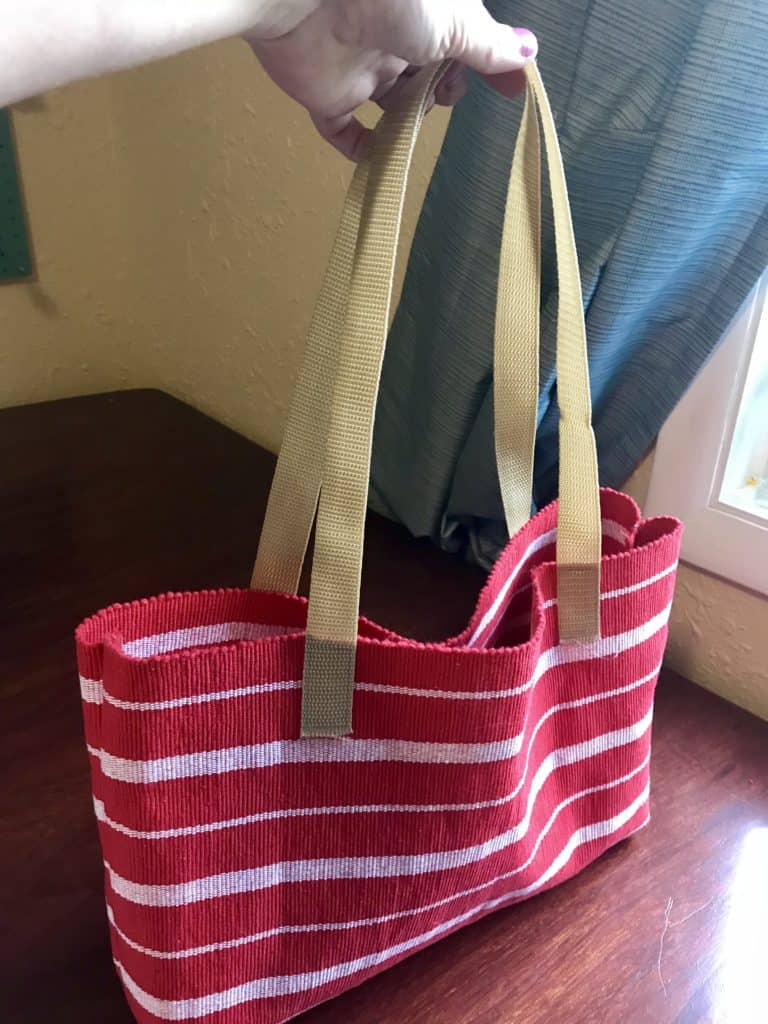 Placemat to Tote Bag $1 Upcycle Easy Sewing Project