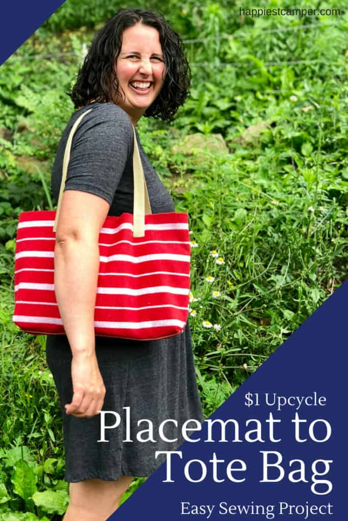 Tote Bag Upcycle Placemat Easy Sewing Project