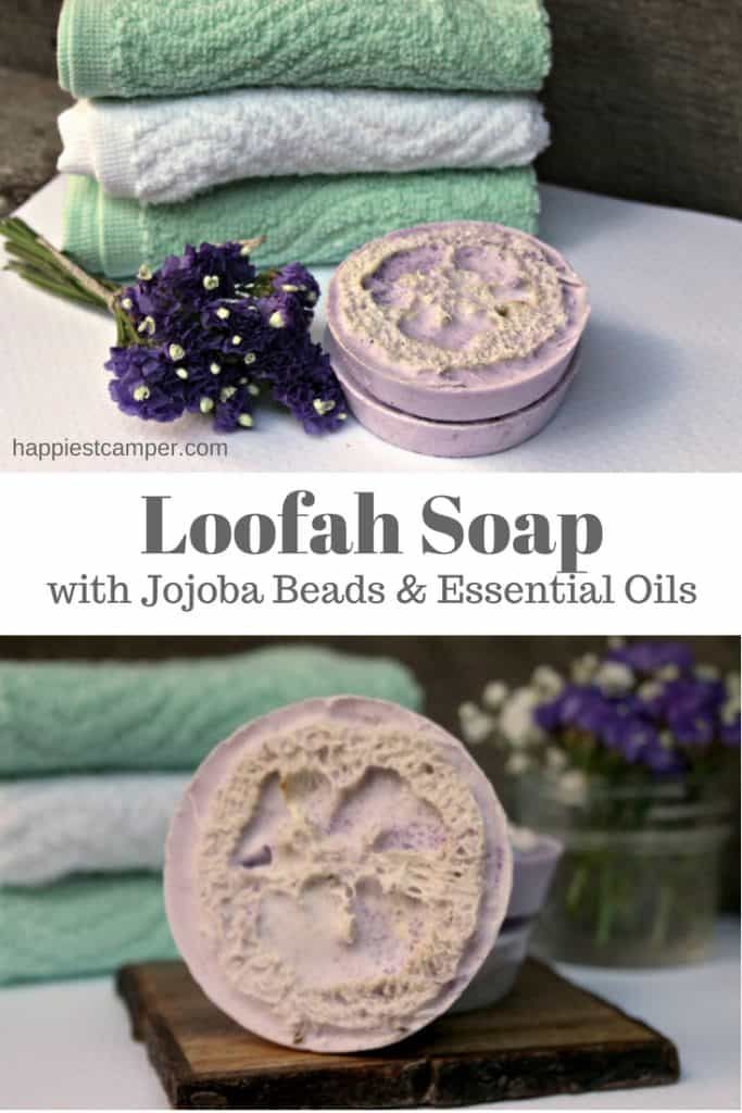 Loofah Soap Jojoba Beads Essential Oil
