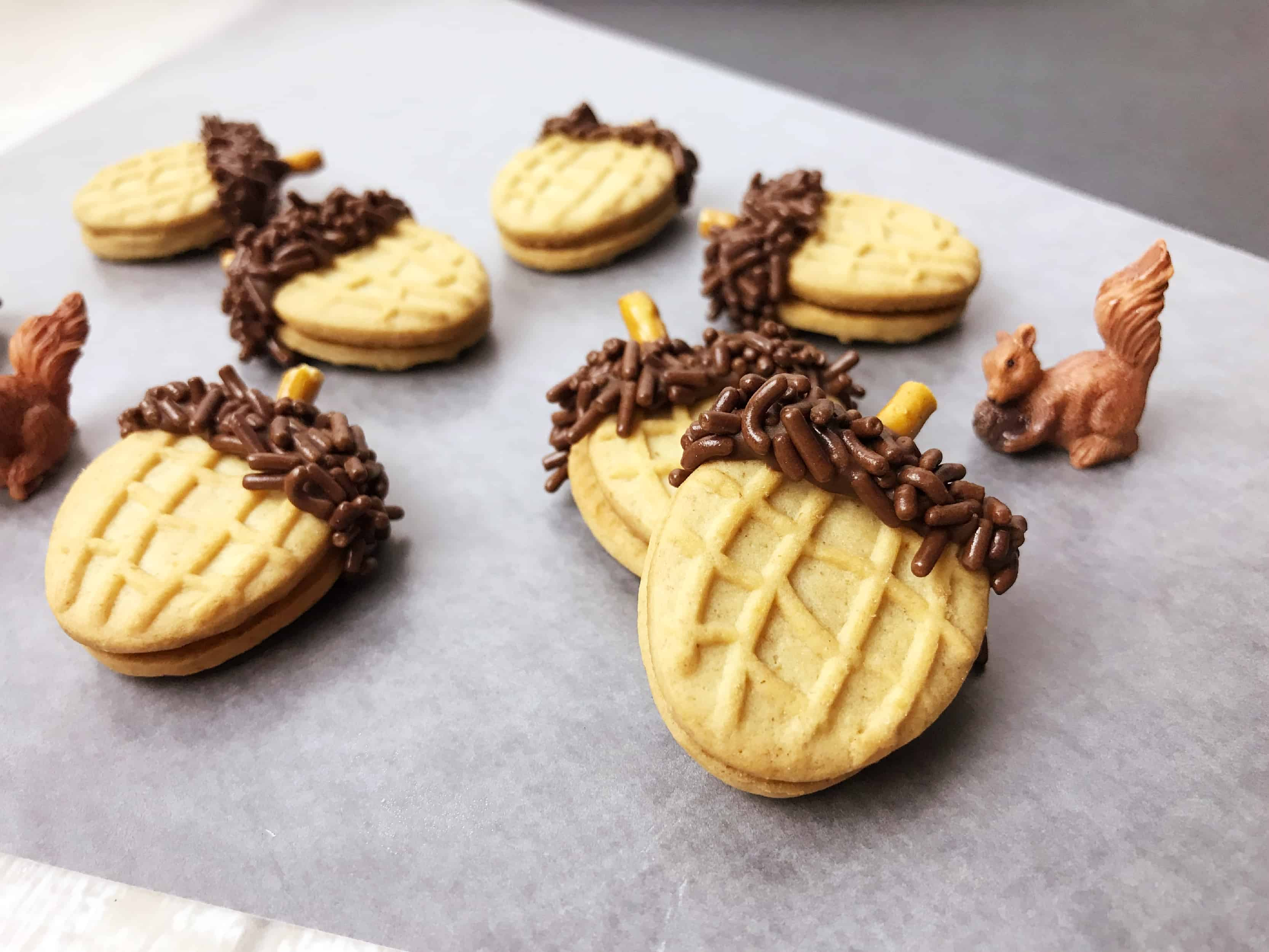 Easy Acorn Cookies for Fall