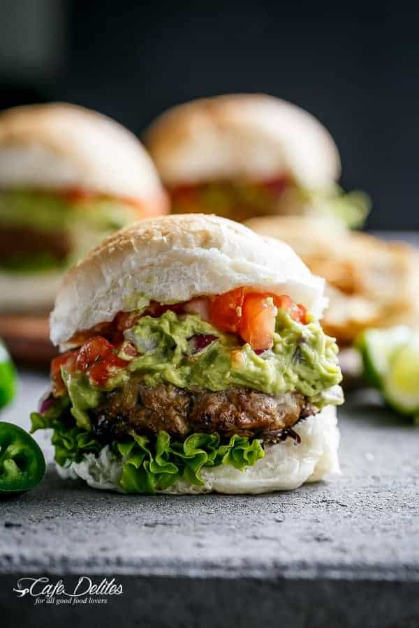 Carne Asada Guacamole Burgers