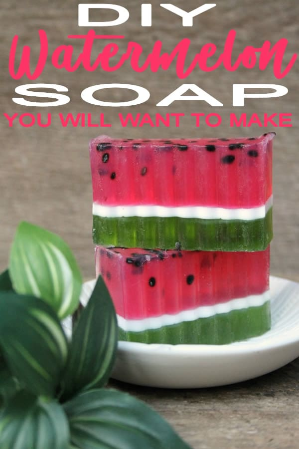 DIY Watermelon Soap Bar | How To Make Homemade Watermelon Scented Soap {Easy Recipe}