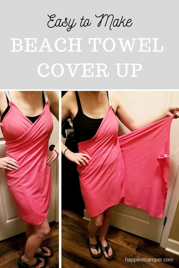 Step by step instructions for making an easy beach towel cover up. It's easy!