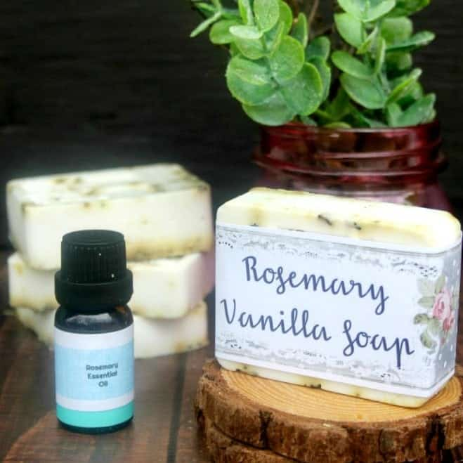 Easy DIY Rosemary Vanilla Essential Soap