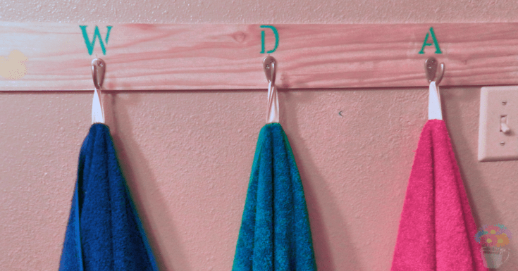 How to Add Loops to Bath Towels - Measuring Flower