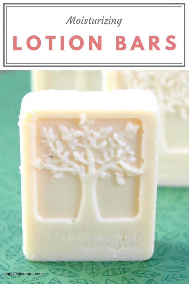 Full tutorial for how to make moisturizing solid lotion bars.
