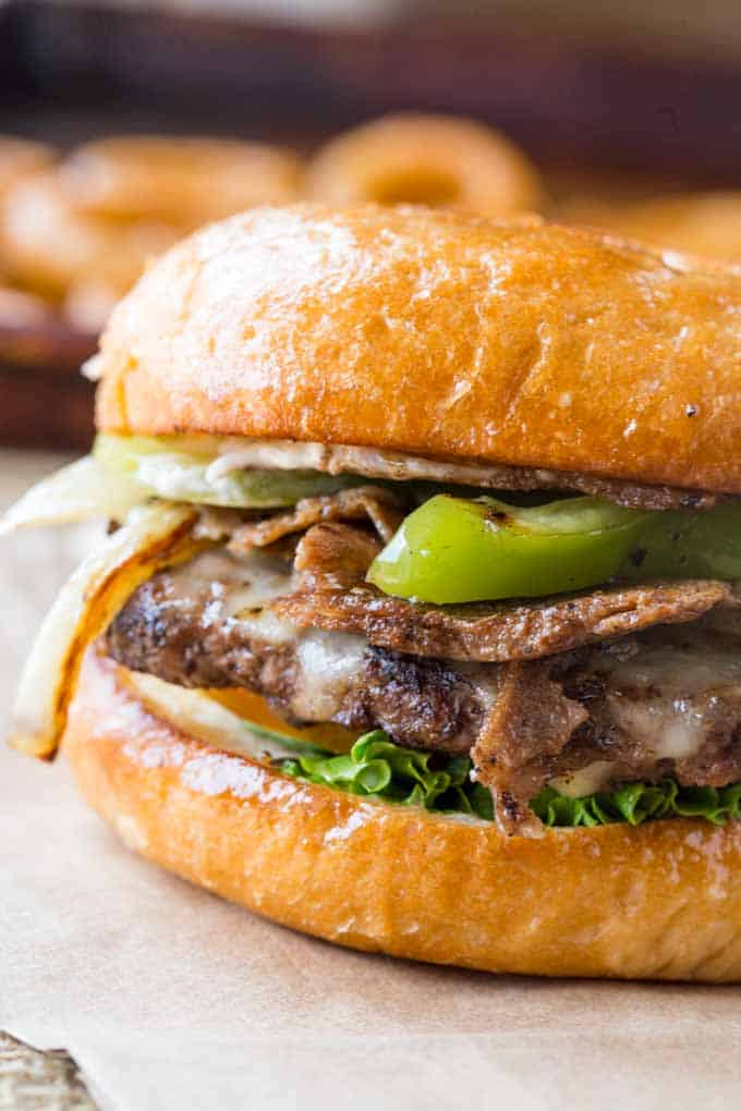 Philly Cheese Steak Burgers