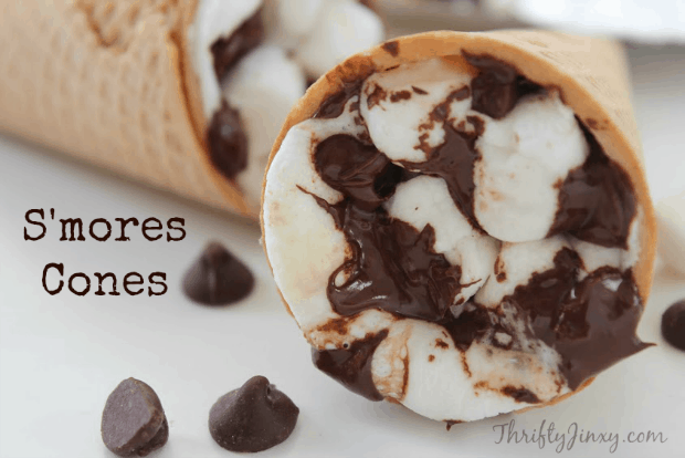 S'mores Cones Recipe - Perfect for Campfire, BBQ Grill or Oven