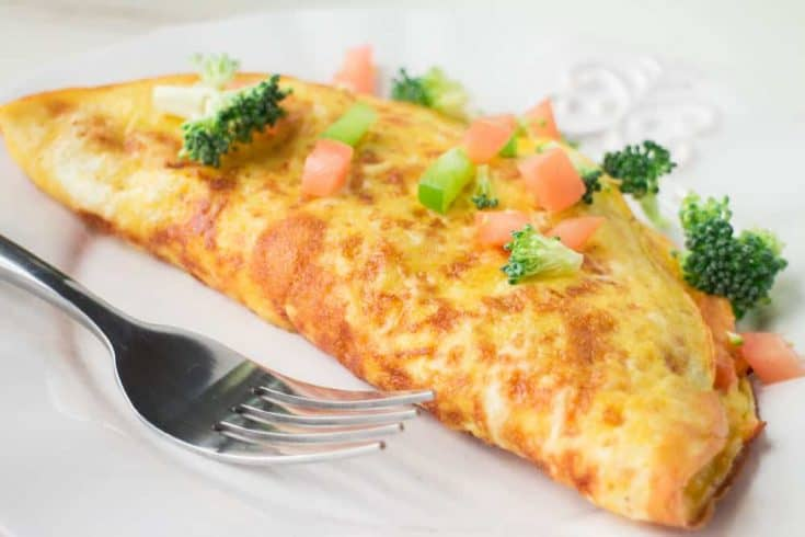 Cheesy Vegetable Farm Omelette