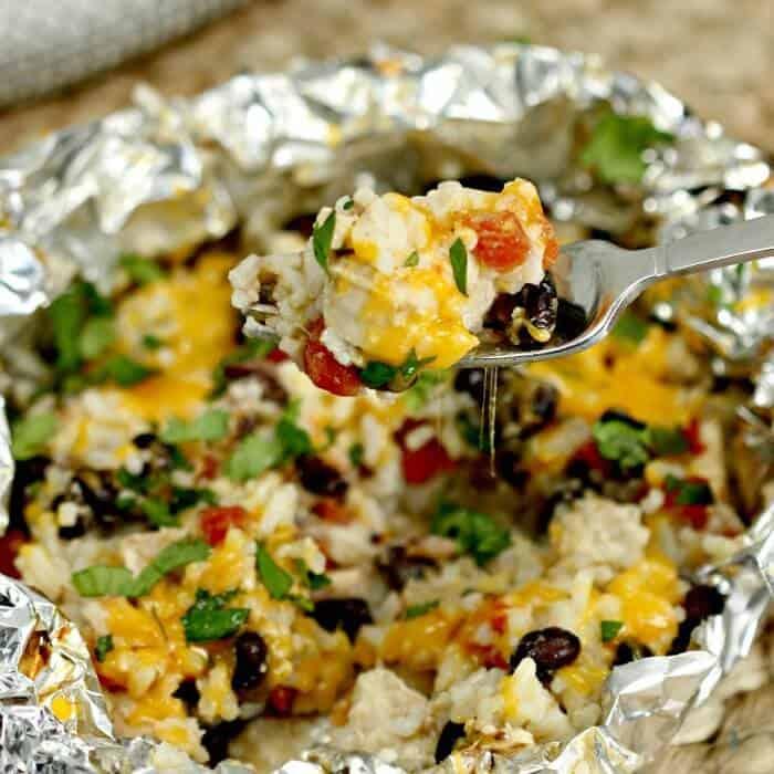 Easy Chicken Enchilada Foil Packet Meal - Easy Enchiladas Foil Dinner