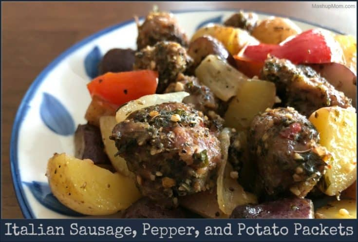 Italian Sausage, Pepper, and Potato Packets (on the grill or in the oven)