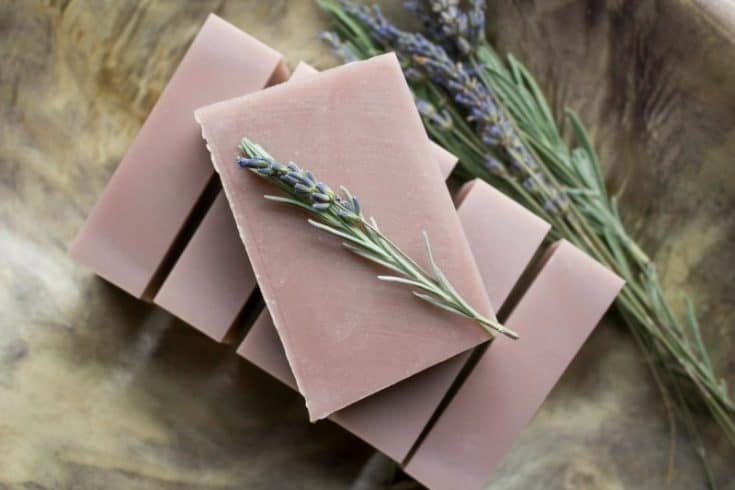 Homemade Lavender Soap Bars