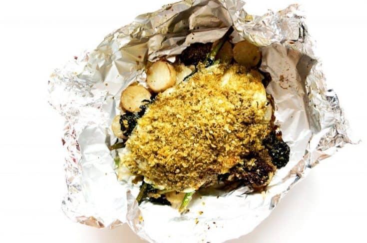 Lemon Sole Tin Foil Meal with Parmesan Potatoes