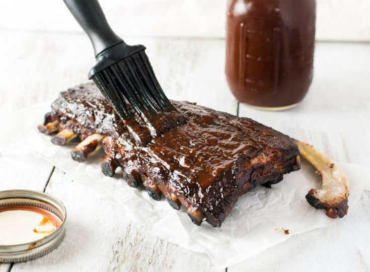 Smoked Cherry BBQ Sauce with Ribs