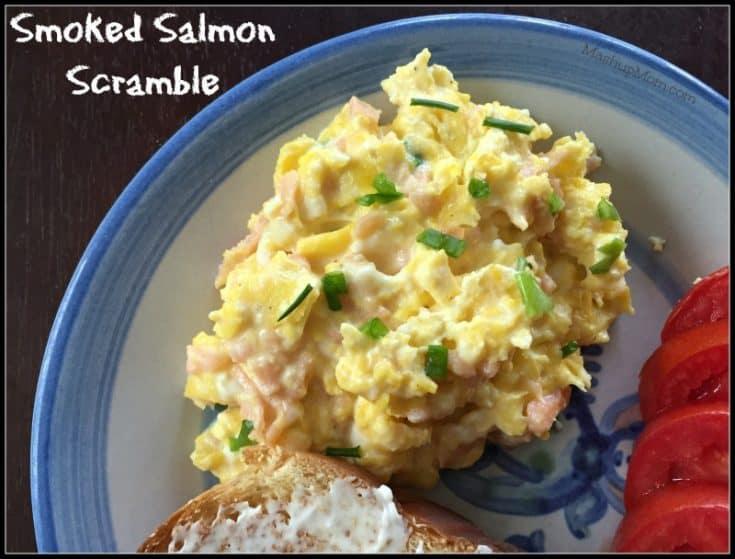 Smoked Salmon Scramble -- AKA: Scrambled Eggs with Lox & Cream Cheese!