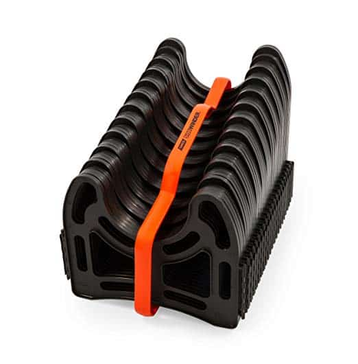 Camco 20ft Sidewinder RV Sewer Hose Support, Made From Sturdy Lightweight Plastic, Won't Creep Closed, Holds Hoses In Place - No Need For Straps (43051)