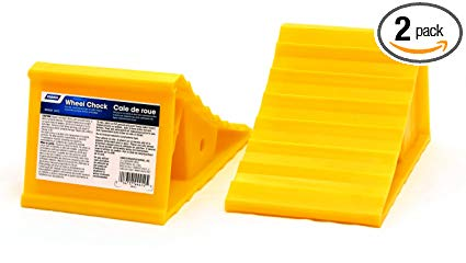 Camco 44414 Wheel Chock Without Rope, Helps Keep Your Trailer RV in Place (Pack of 2)
