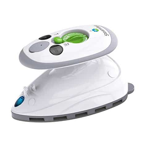 Vornado SF-717, Mini Steam Iron with Dual Voltage Travel Bag, Non-Stick Soleplate, Anti-Slip Handle, Rapid Heating, 420W Power, White