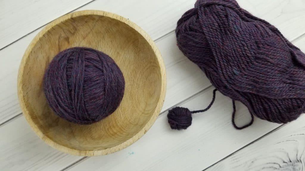 DIY Wool Dryer Balls Step 3
