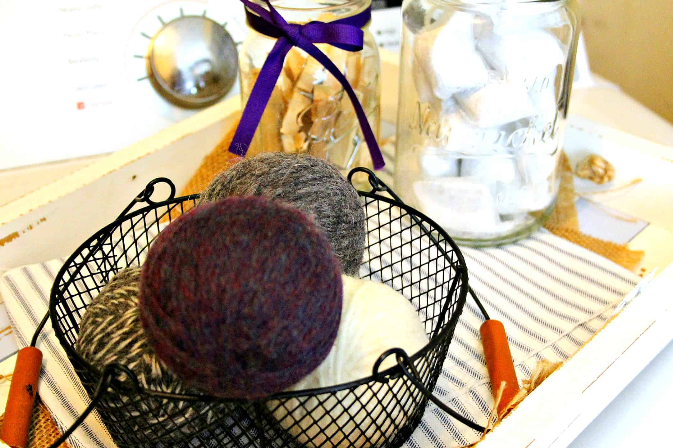 DIY Wool Dryer Balls on Dryer