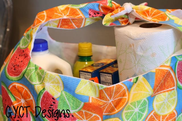 EASY Reusable Shopping Bag Pattern - Free Download