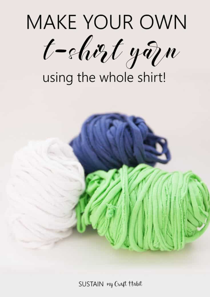 How to Make T-Shirt Yarn using the Whole Shirt!