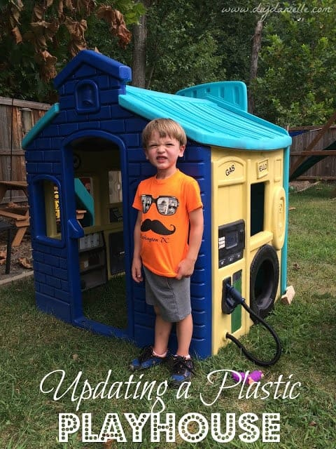 Plastic Playhouse Makeover: How to Paint Plastic
