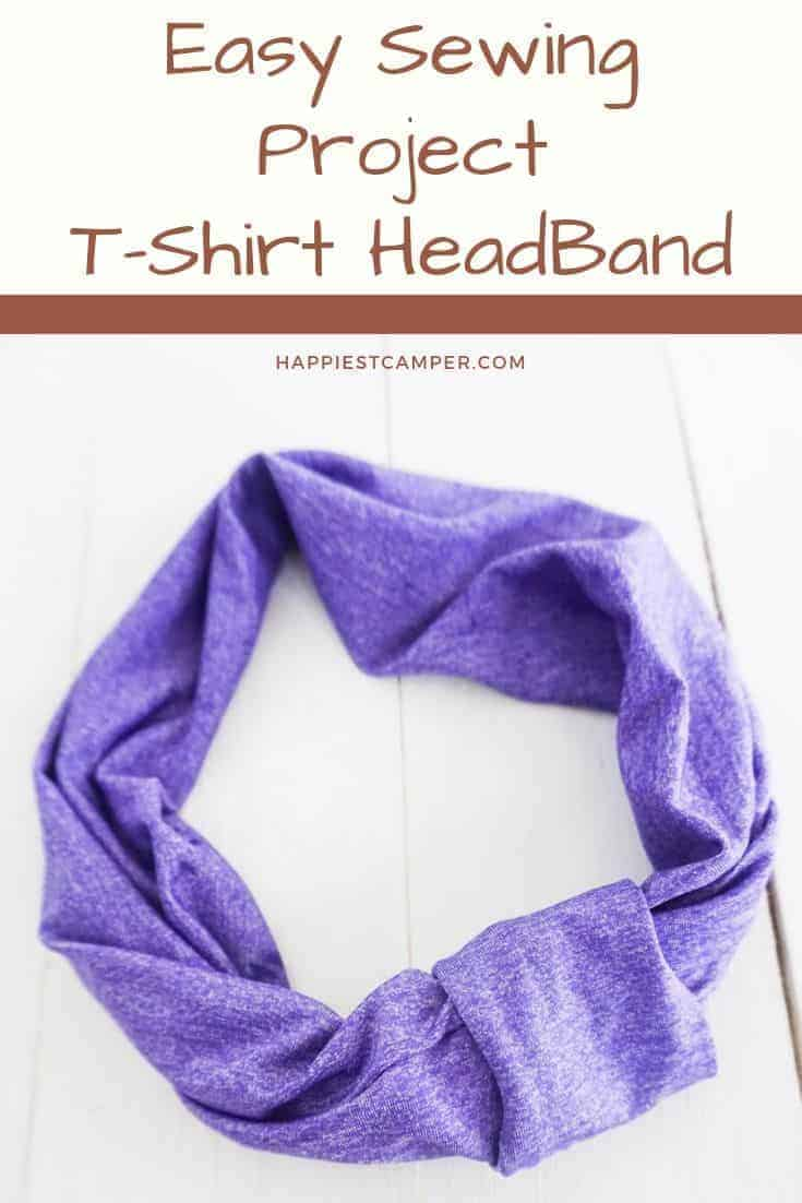 Easy Sewing Project T-shirt Headband
