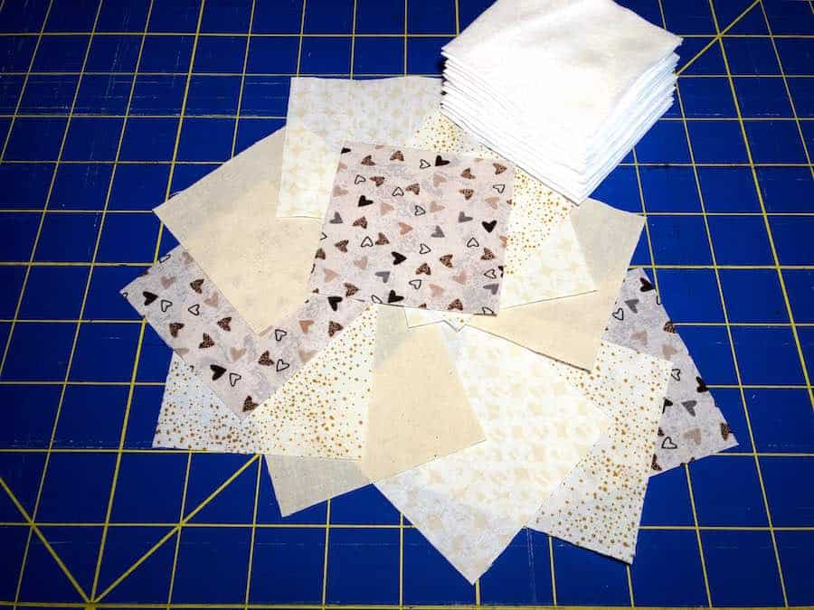 stack of cut squares for remover pads